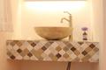 モザイクタイルの洗面